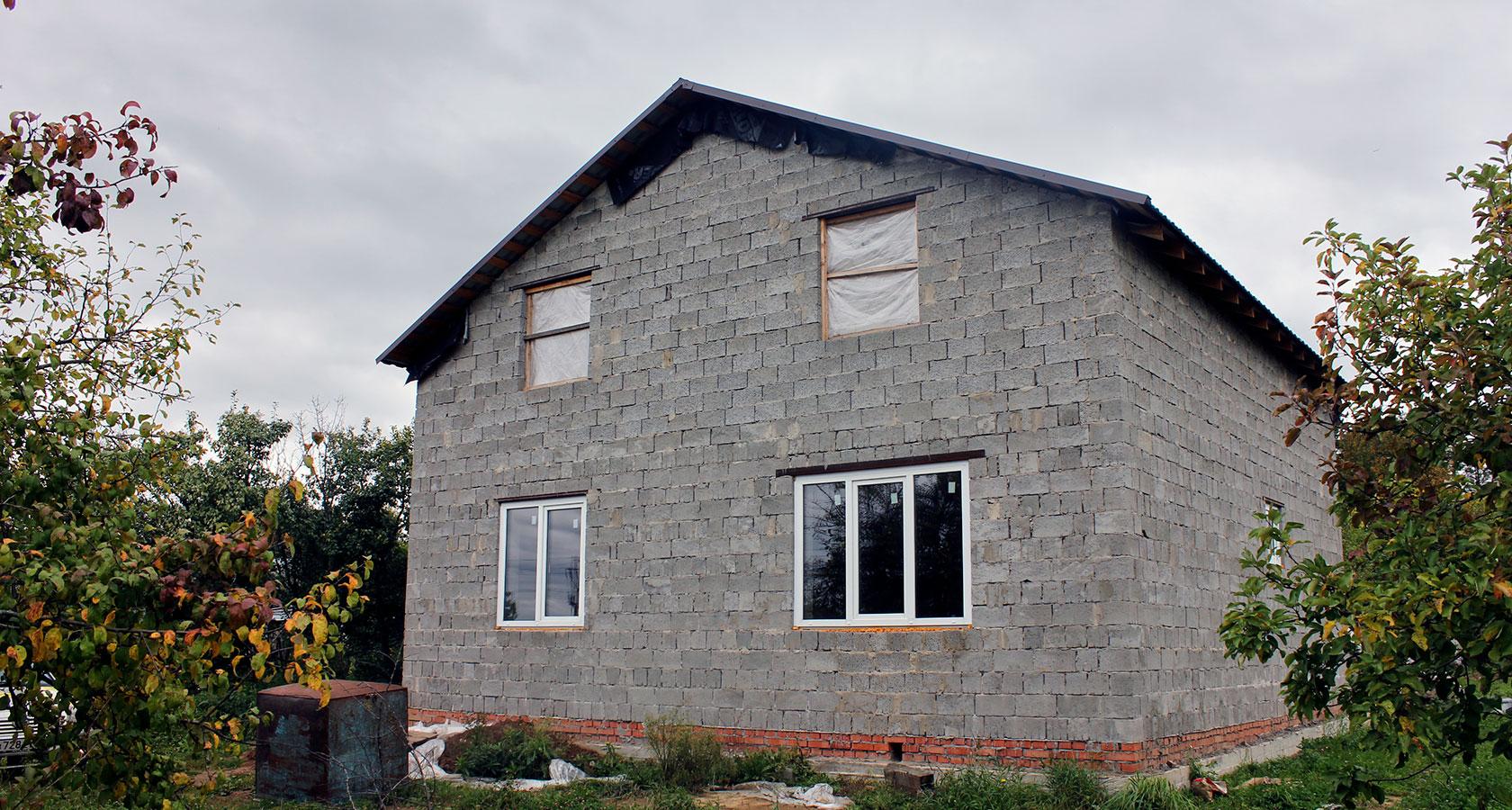 фото дома из керамзитных блоков