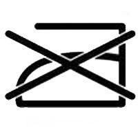 Някои от материите е недопустимо да се гладят и това се означава на етикета със символ на ютия, която е зачертана.
