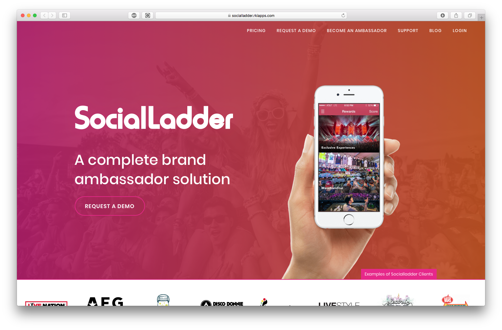 Social Ladder gets your fans and their network to sell more and drive more buzz for your events