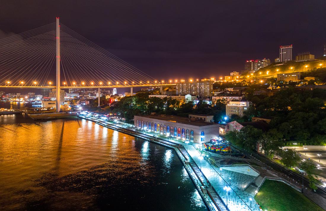 картинка мост ночью владивосток предыдущем