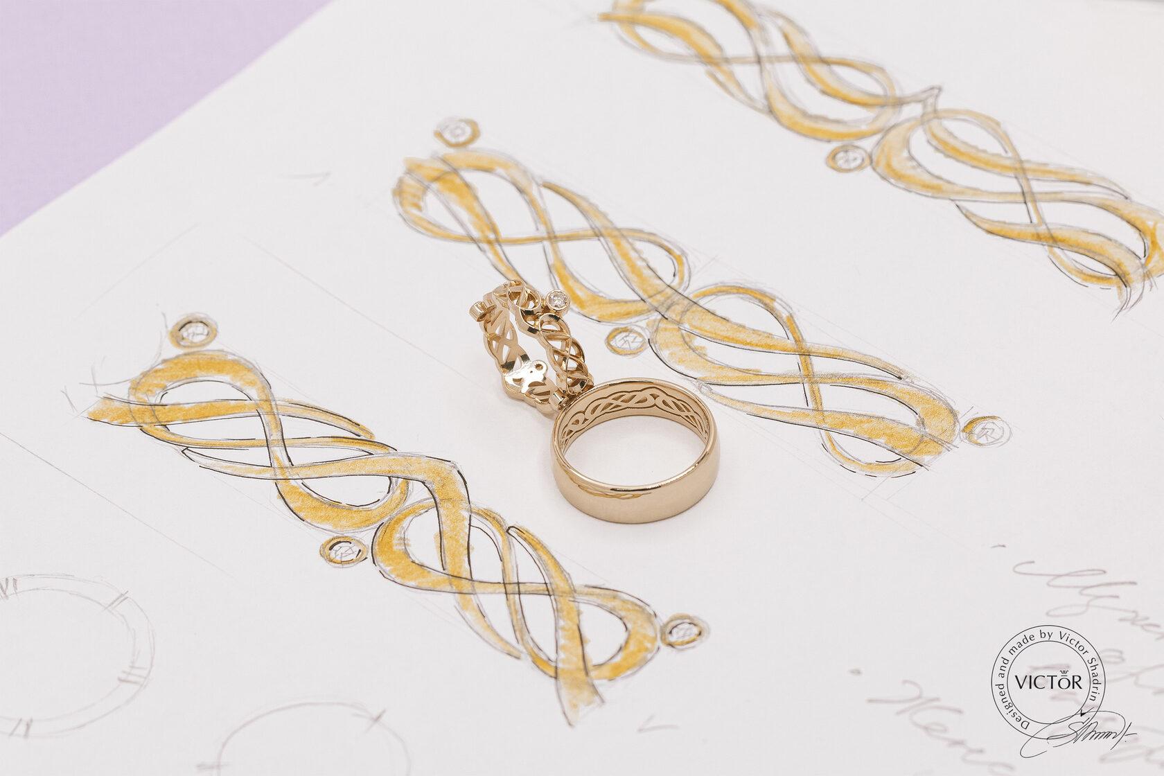 Обручальные кольца на заказ от производителя в Москве по выгодной цене. Ювелирная студия Виктора Шадрина