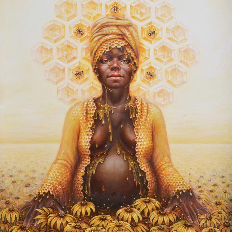 Autumn Skye Art / donna incinta e miele