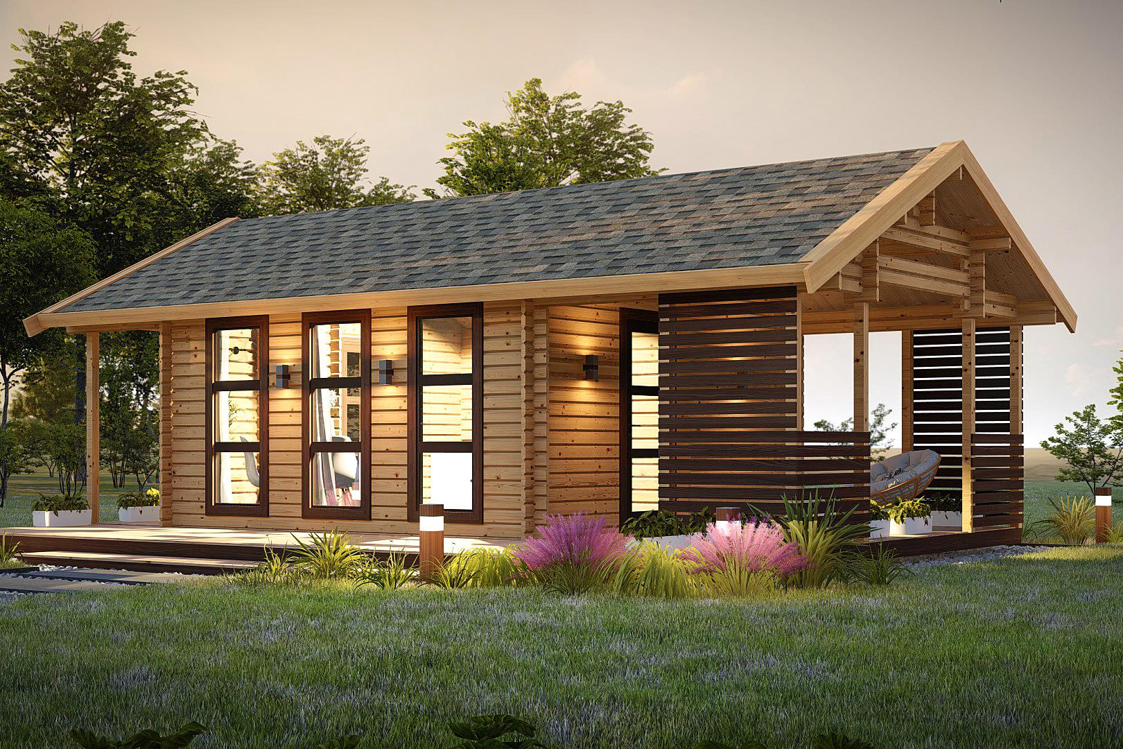 Садовый домик из бруса фото