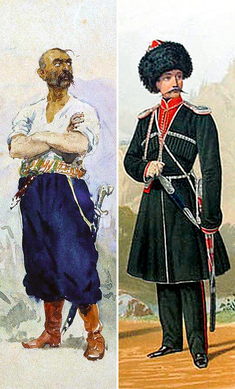 Запорожец (слева) и кубанец (справа)