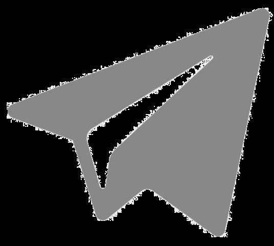 лого telegram серый