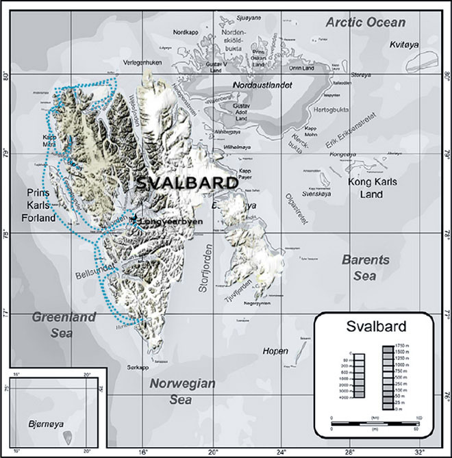 Map of the Svalbard photo-tour