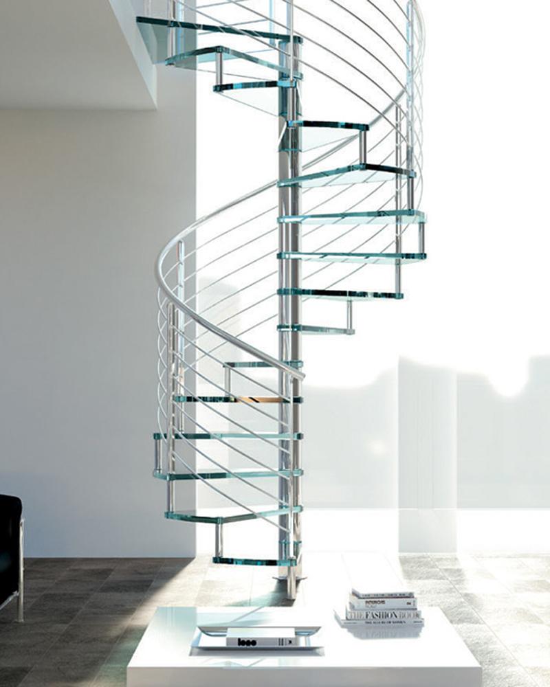 лестница в стиле Хай-тек  (high-tech)