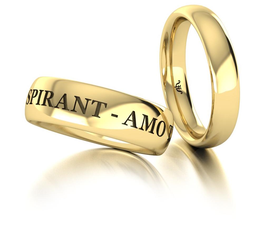 Классические обручальные кольца из желтого золота купить и заказать в Москве ювелирная студия Виктора Шадрина