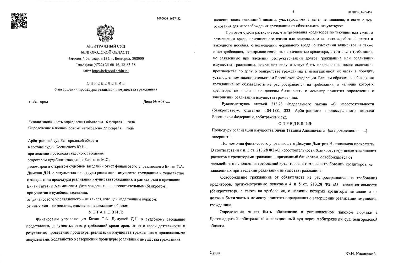 Банкротство по кредитам белгород