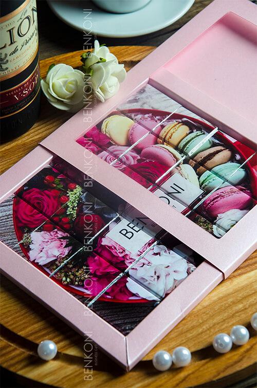 Корпоративный шоколад в наборе из 20 мини-плиток, выложенных в пазл