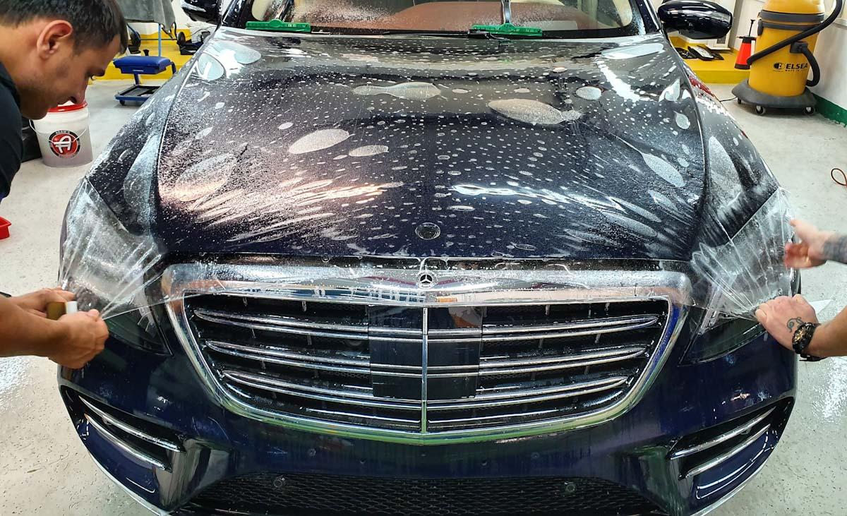 Оклейка полиуретановой пленкой Mercedes Benz 222