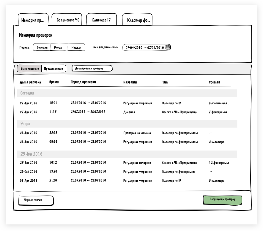 Мокапы первой версии структуры интерфейса | Sobakapav.ru