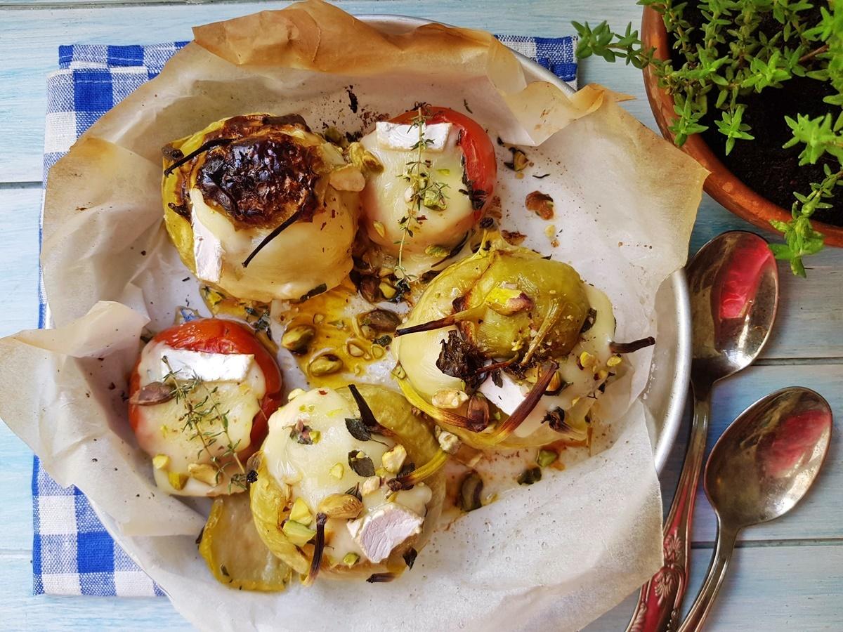 Запеченный кольраби с сыром бри. Подробный рецепт с фото.