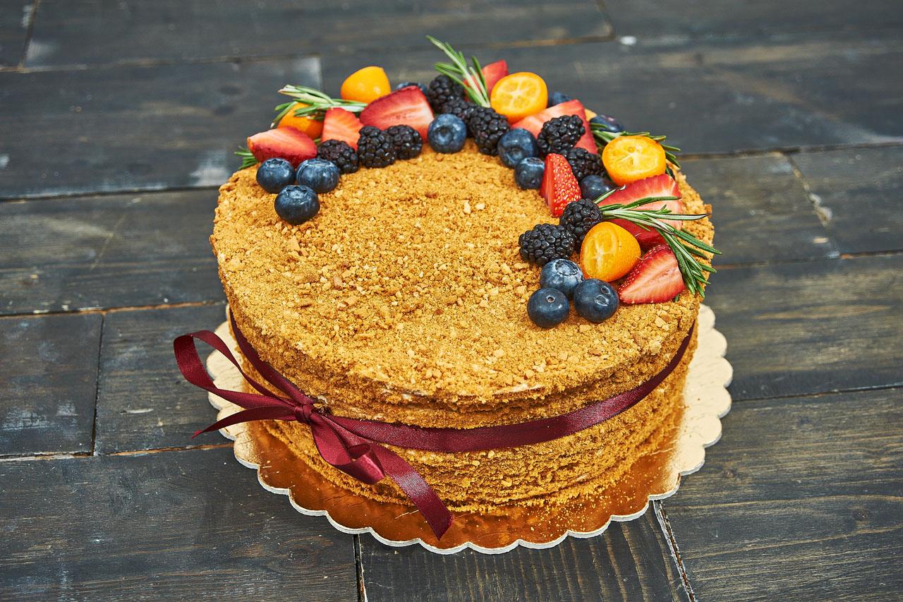 торт медовый классический