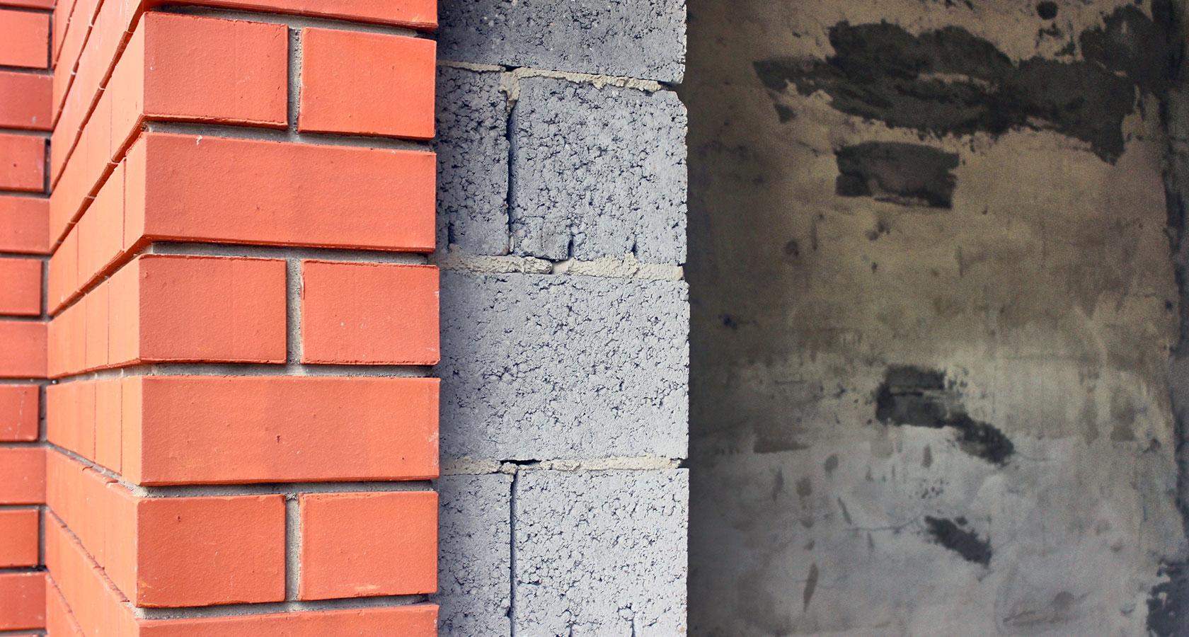 Облицовка кирпичом керамзитобетон несплошность бетона