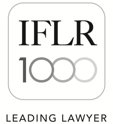 International Financial Law Review's Guide to the World's Leading Financial Law firms - IFLR 1000 - Highly Regarded Lawyer 2020 - Belarus