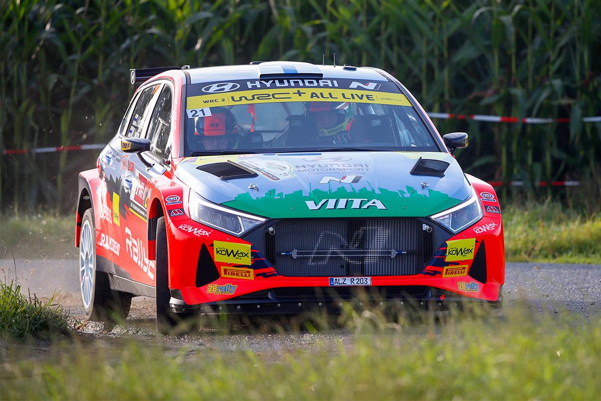 Яри Хуттунен и Микко Лукка, Hyundai i20 N Rally2, ралли Ипр 2021