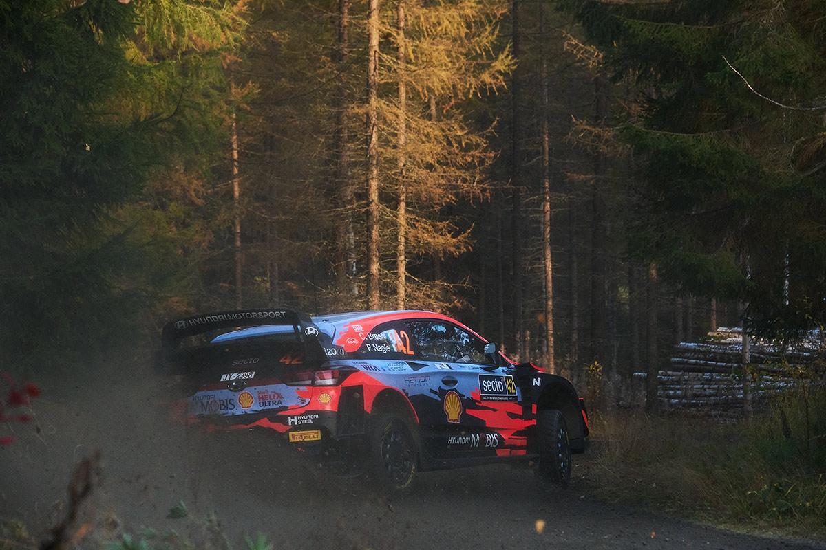Крейг Брин и Пол Нейгл, Hyundai i20 Coupe WRC, ралли Финляндия 2021
