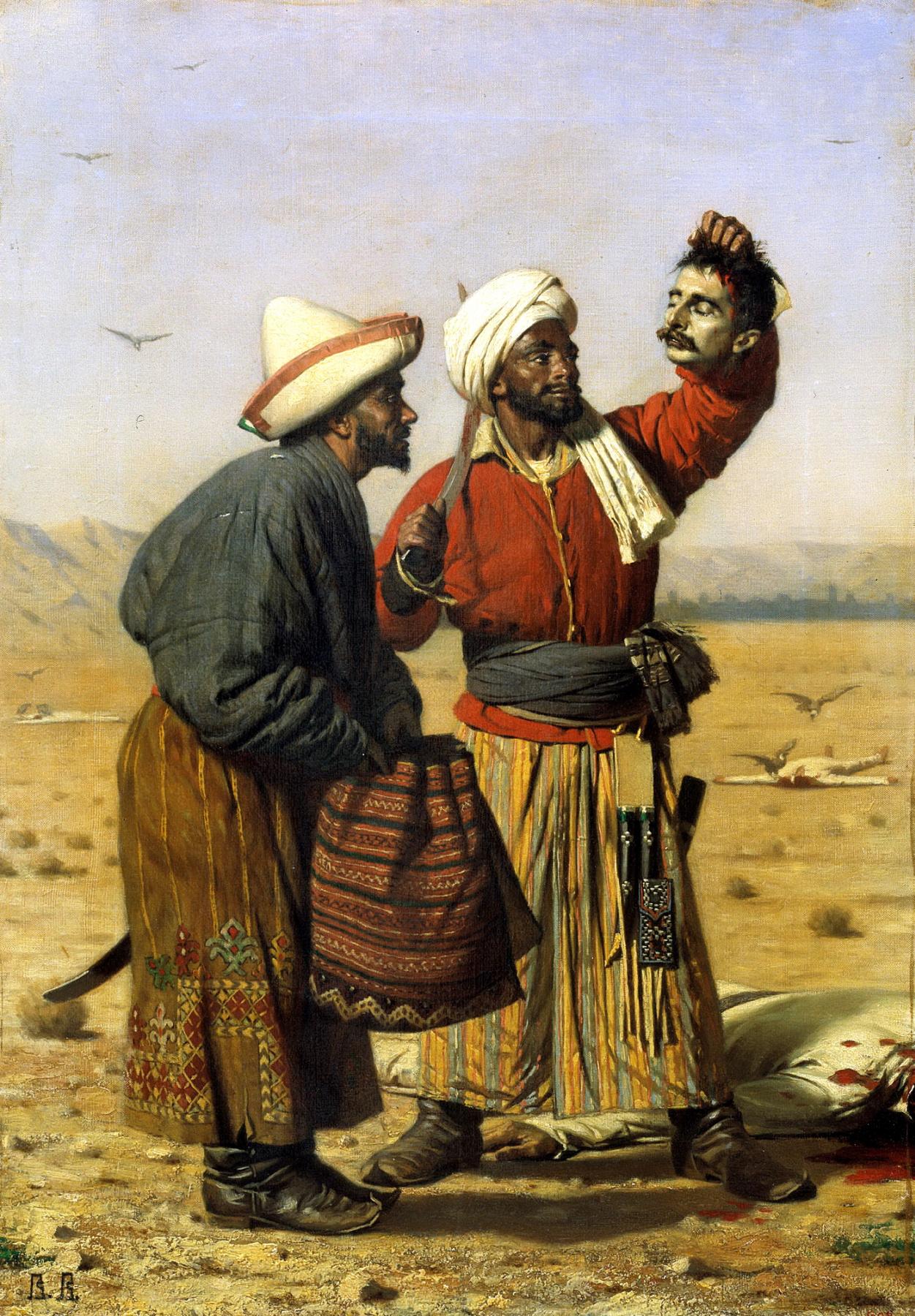 В. В. Верещагин. После удачи. Холст, масло. 1868 год. Государственный Русский музей, Санкт-Петербург
