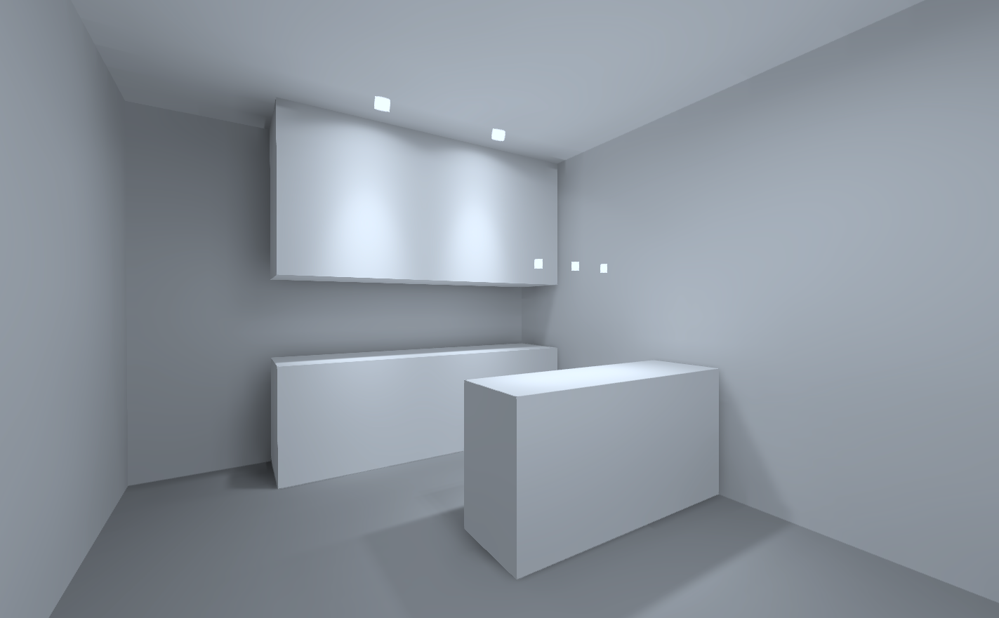 Визуализация освещения на кухне