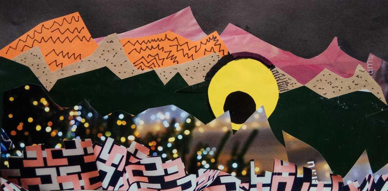 Дружкова Евгения / тема «Мелодия»: в пещере горного короля Пер Гюнт / коллаж