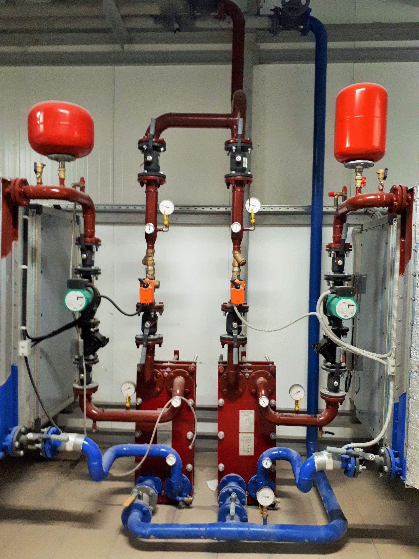 Система теплоснабжения приточной вентиляции на кондитерской фабрике.