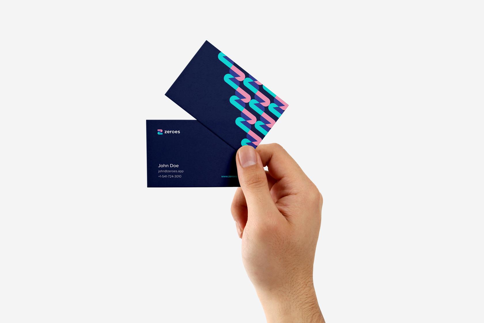 Fintech business cards design