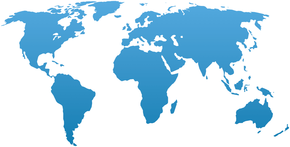 World map, locations of HG Ministry chruches