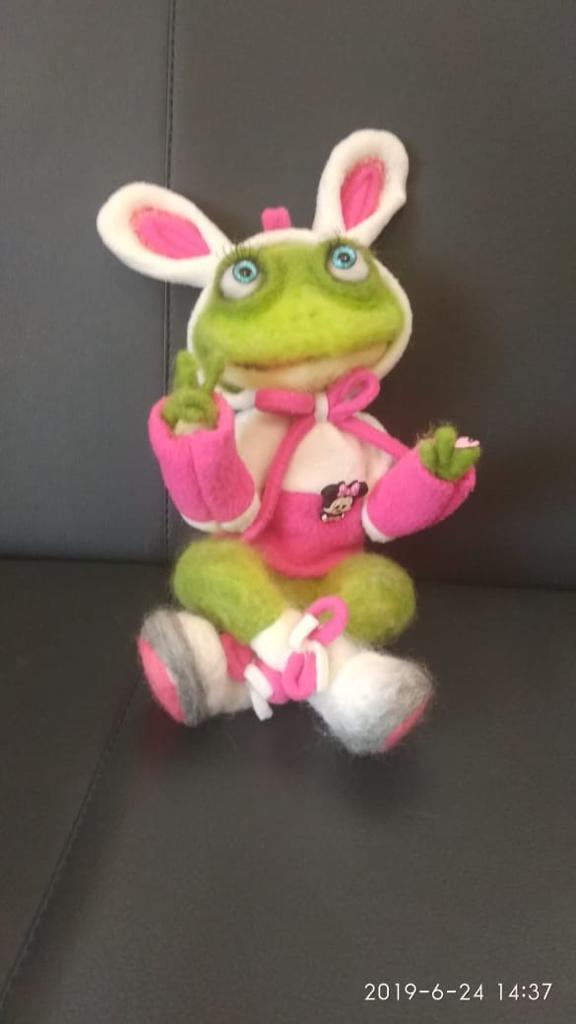 картинка лягушка в костюме зайчика картины панно