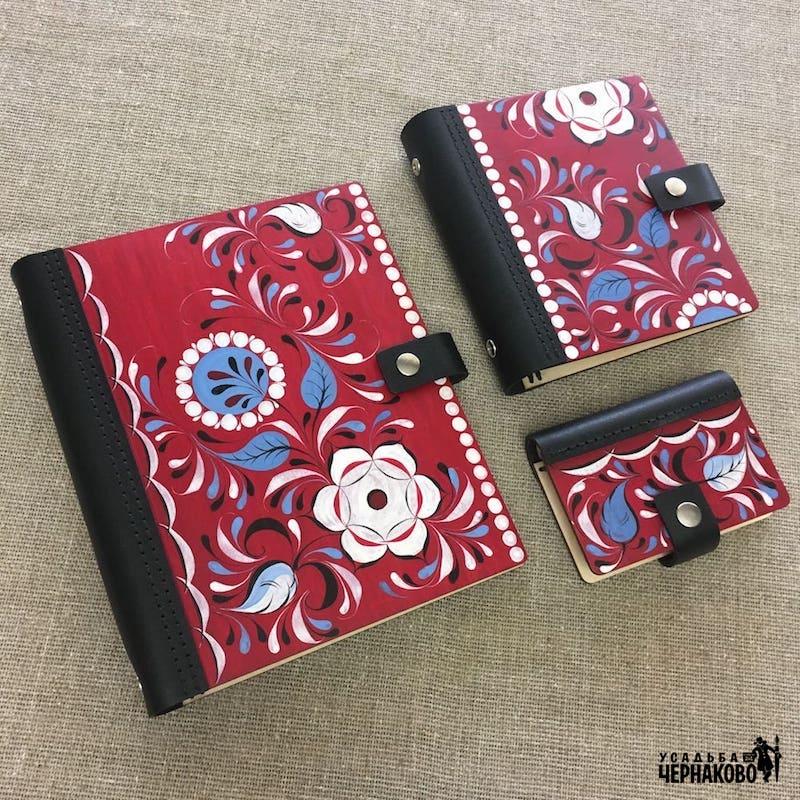 подарочные блокноты и подарочная карманная визитница