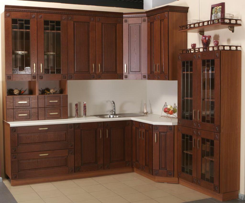 Кухня из тикового дерева фото