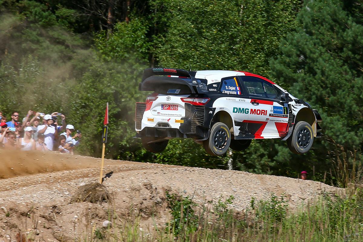 Себастьен Ожье и Жюльен Инграссиа, Toyota Yaris WRC, ралли Эстония 2021