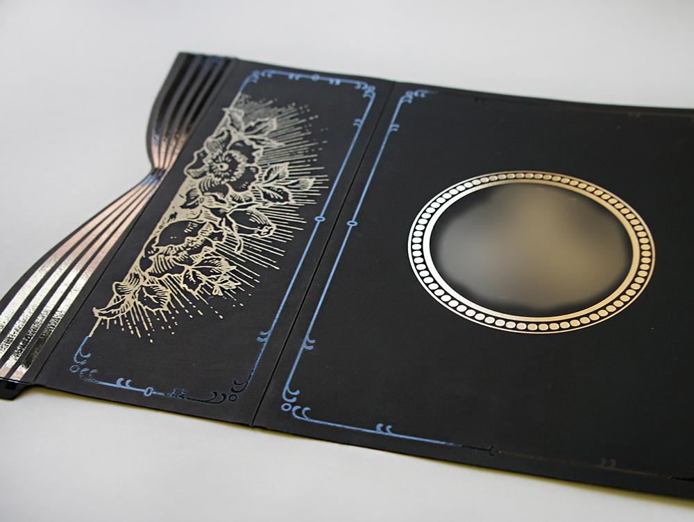Золотая печать на открытках
