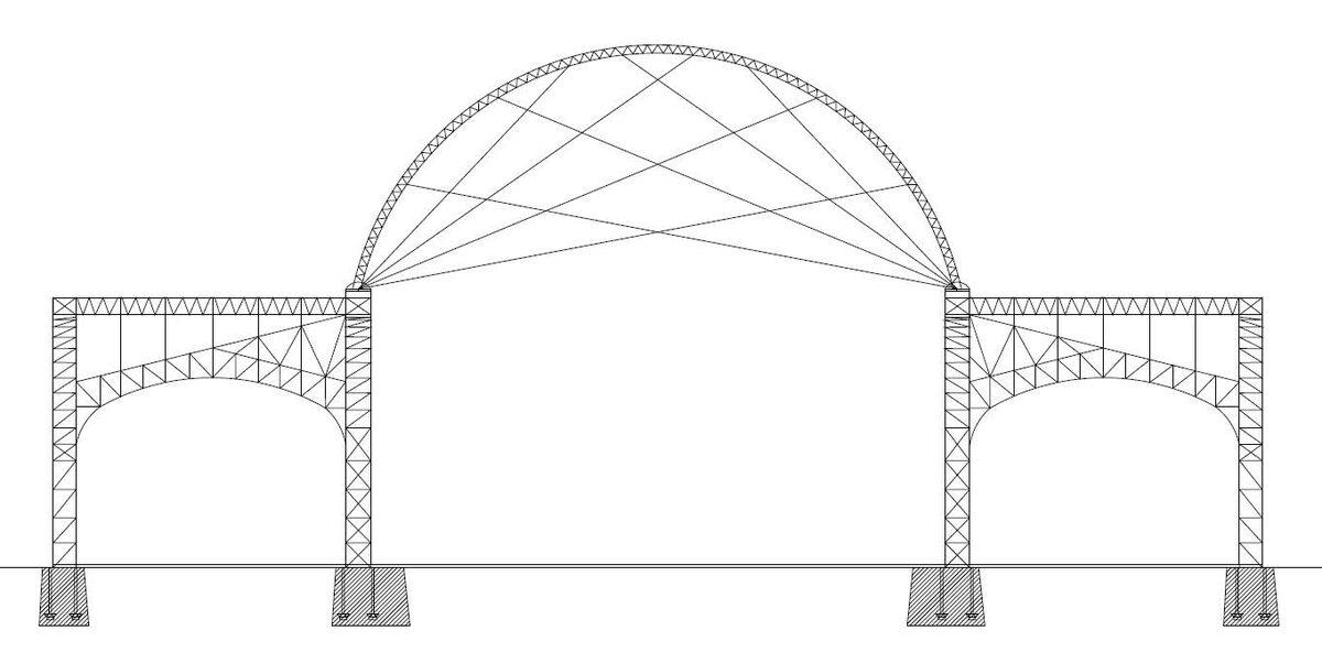 взрыв-схема конструкции листопрокатного цеха в Выксе
