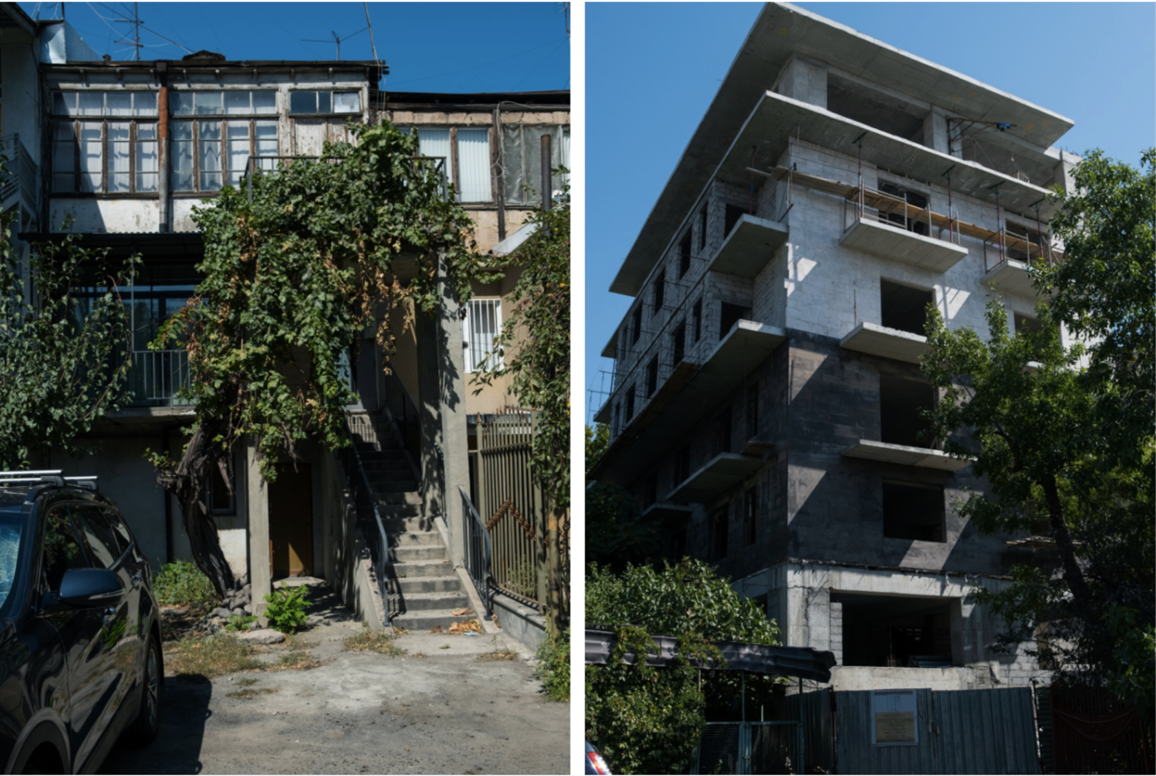 """Another example of forced gentrification with replacment with """"elite"""" housing:  Northern Avenue  . Photo credit: Arsen Arustamyan"""