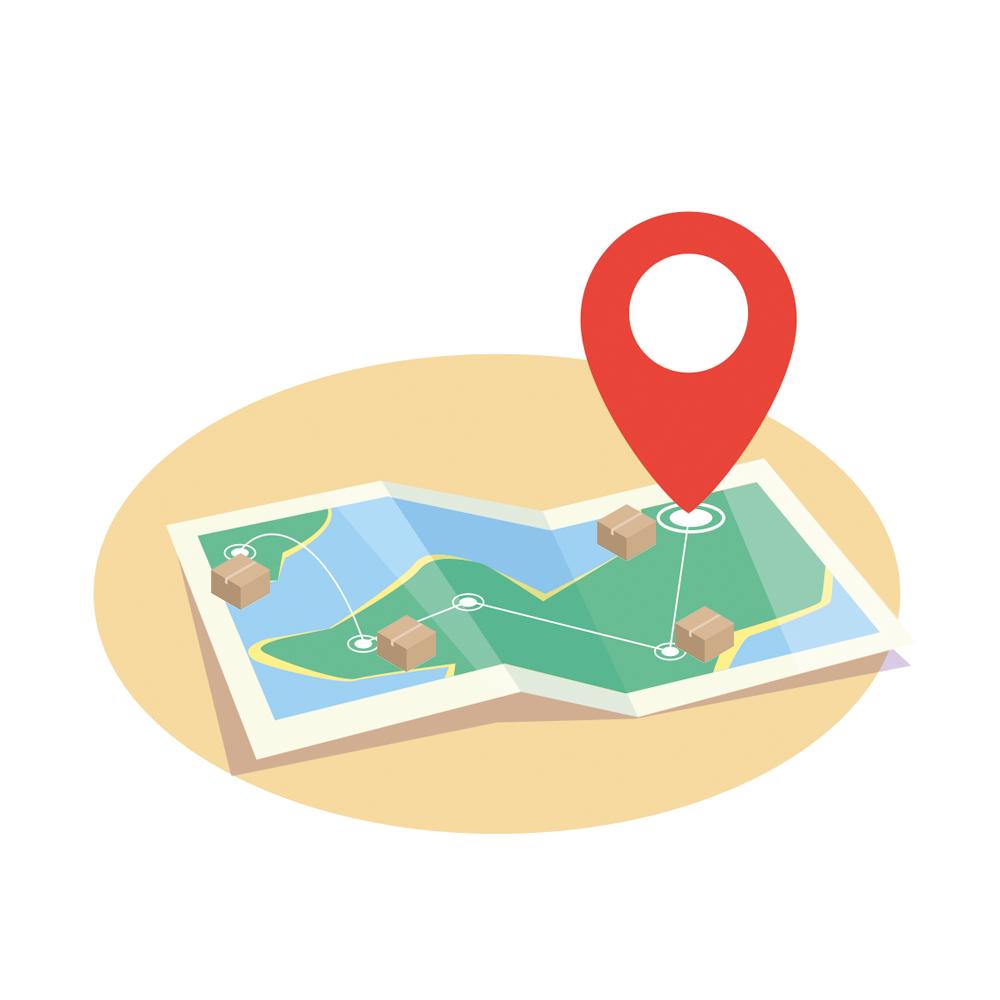 Визуализация заказов на карте