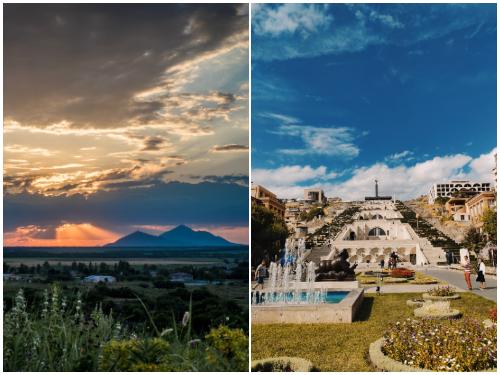 Ереван и Минеральные Воды в июле