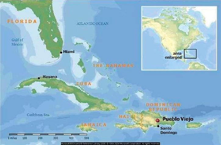РИС. 1 – Карта расположения проекта Пуэбло Вьехо в Доминиканской Республике