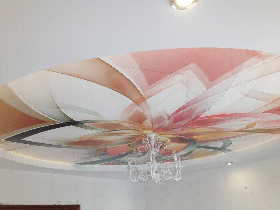 для тех, натяжной потолок с абстракцией фото того чтобы выровнять