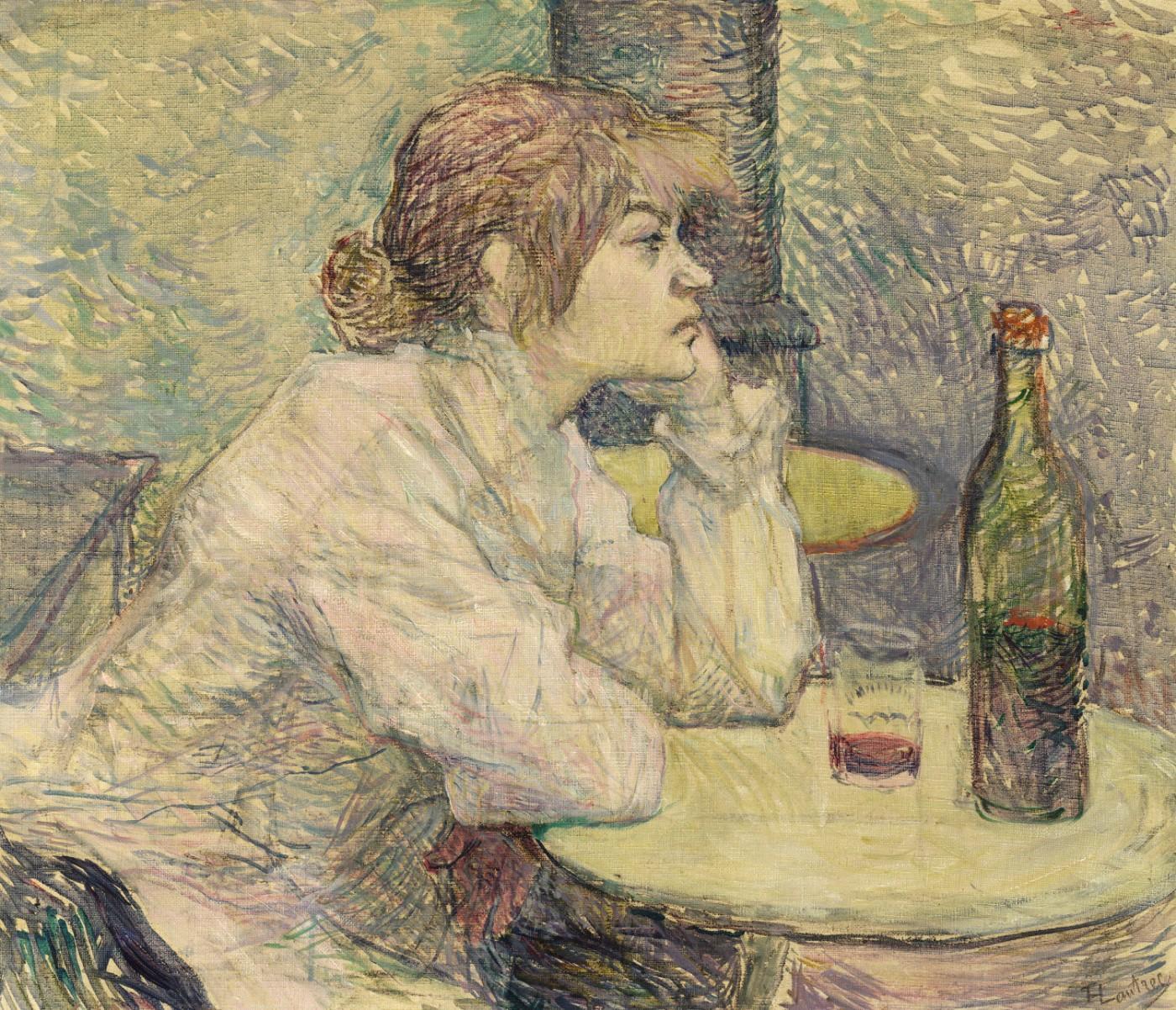 Анри Тулуз-Лотрека, картина — Похмелье, 1887 – 1889 года