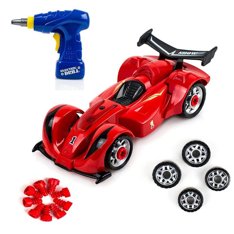 Развивающий детский конструктор с дрелью гоночный болид