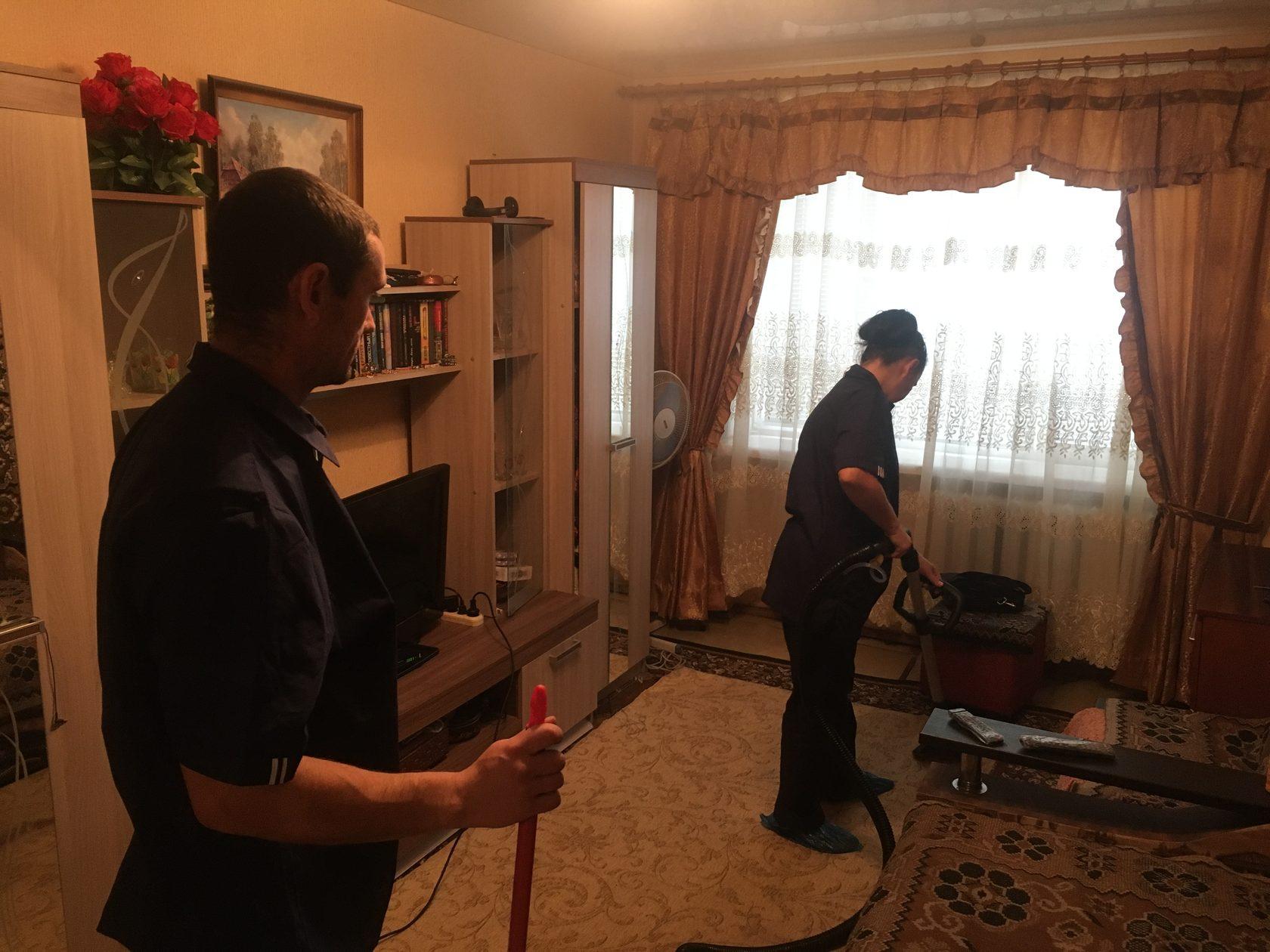 Оказание социальной услуги уборка на дому