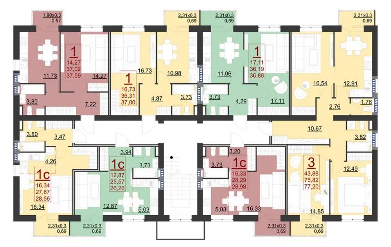 Планировки квартир ЖК Португалия