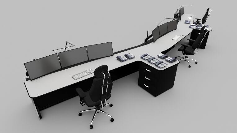 Диспетчерская мебель для АО «Гидроремонт-ВКК»