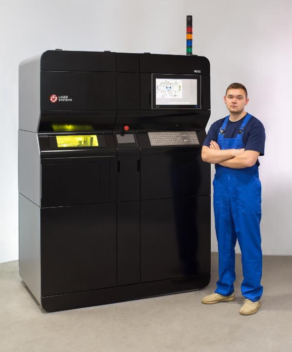 Дизайн промышленного принтера для печати металлами Laser Systems М250