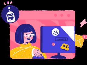 иллюстрация Платформа для коммуникаций онлайн-бизнеса с пользователями