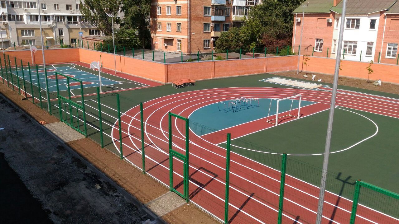 Картинки спортивных площадок в школах