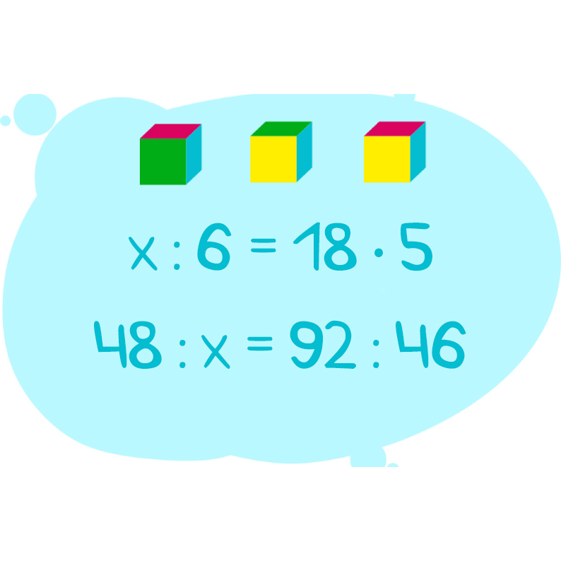 Решение уравнений на картинке с кубиками