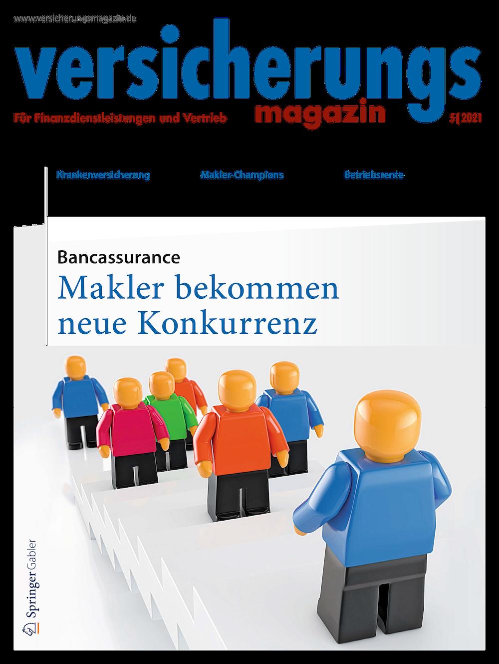 Cover des Versicherungsmagazins