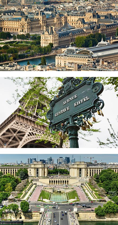 Панорамный вид на Трокадеро с Эйфелевой башни в Париже